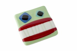 funny face fused glass